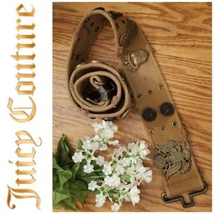 Juicy Couture Mens Military Pendent Canvas Belt